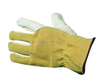 Brand MHR long leather welding glove reinforced thin winter gloves