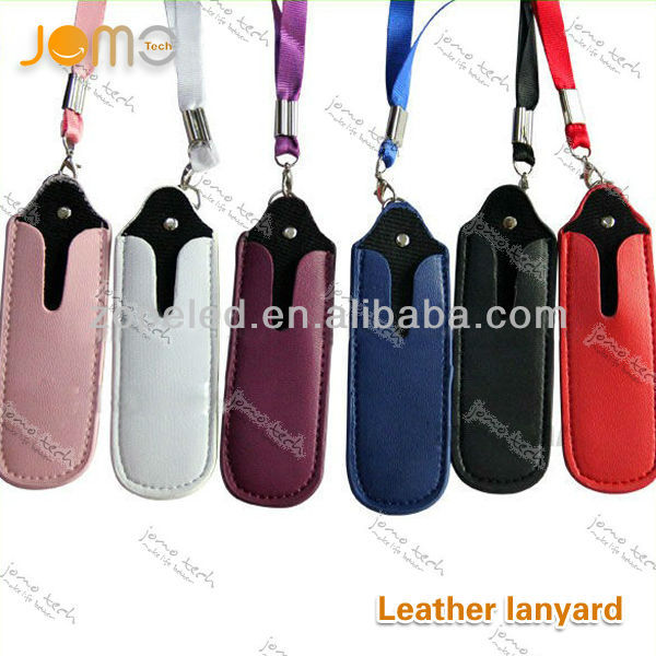 cheap leather ego bag for electronic cigarette with lanyard