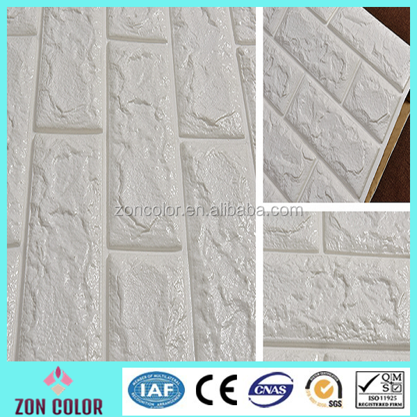 2016 NEW style 3D foam wall tile Decor design 3D Brick PE Foam wallpaper/wall panel/sticker home decor