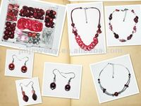 hot popular style red plastic chain DIY beads jewelry J.M.R.D-296