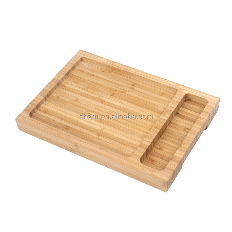 Wholesale Bamboo Serving Tray Eco-friendly Rectangular Wooden Platter Lava Stone Cooking Platter Hot and Cold Cooking Plate