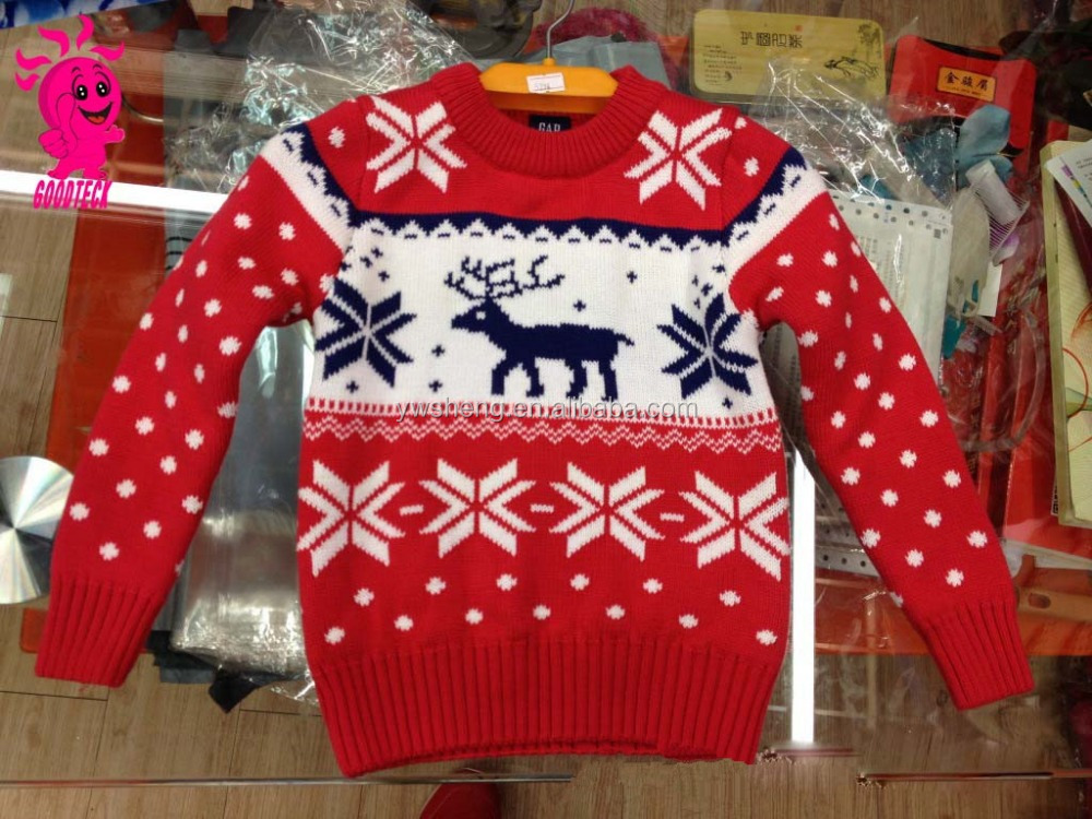 Ugly Unisex Christmas Pullover Sweater With Knitting Patterns/kids Knitting C...