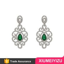 Top grade comfortable design popular crystal ball drop earrings
