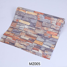 Factory wholesale PVC Self Adhesive 3D Brick Stone vinyl wallpaper waterproof wallpaper for bathrooms