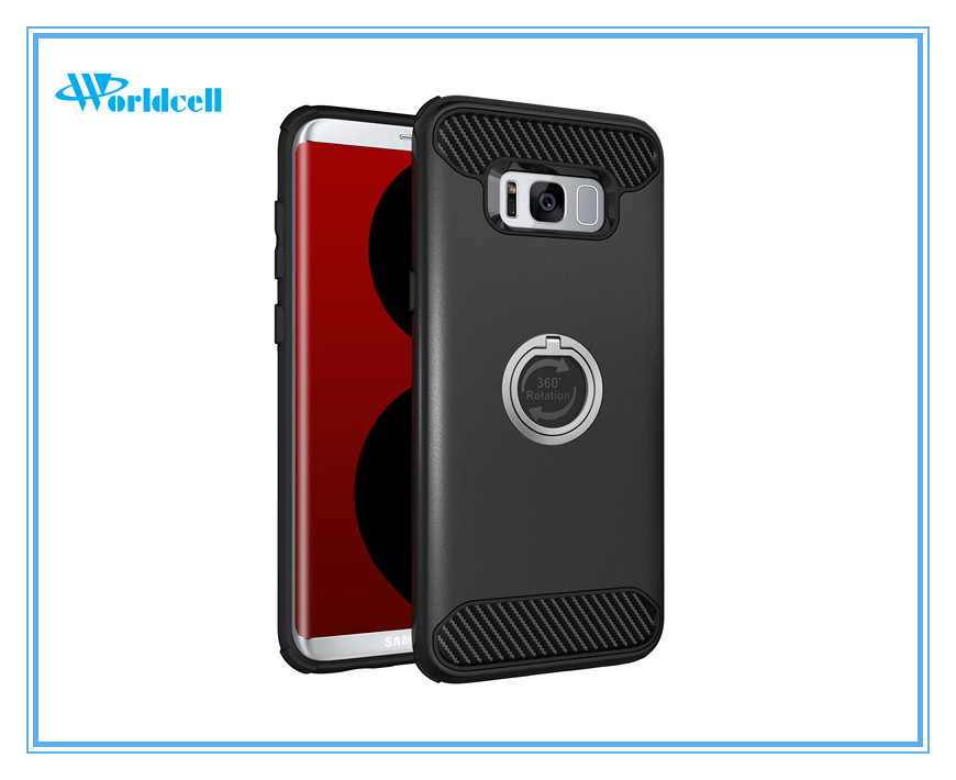ring kickstand mobile phone back cover for Samsung S8 plus