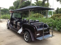Newest CE certificate Electric classic car 6 seater golf cart for sightseeing