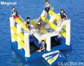 floating water park inflatable water bouncer inflatable water games