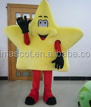 HI EN71 standard adult yellow star mascots costumes