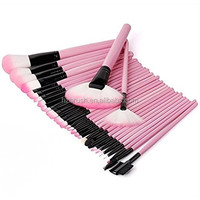 Professional 32PCS Pink Makeup Brushes Kit