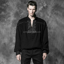 Hot Sale Punk Rave Clothings Men Arabic Loose Linen Shirts