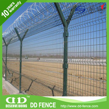 high density anti climb security airport fence / airport fence with razor barbed wire top / waterproof anti climb security fence