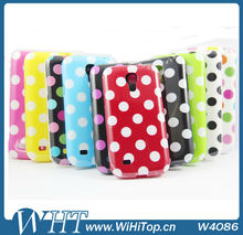 For Samsung Galaxy S4 Mini i9190 Polka Dot Leather Case Soft Gel Silicone Cover Skin.S4 Mini i9190 TPU Case