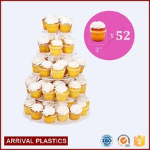 Wedding Party Birthday Bakery Cake Tower clear acrylic cake pop display stands holder