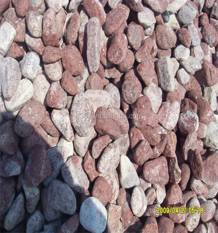 cheapest landscaping pebble stone and crushed red stone chips