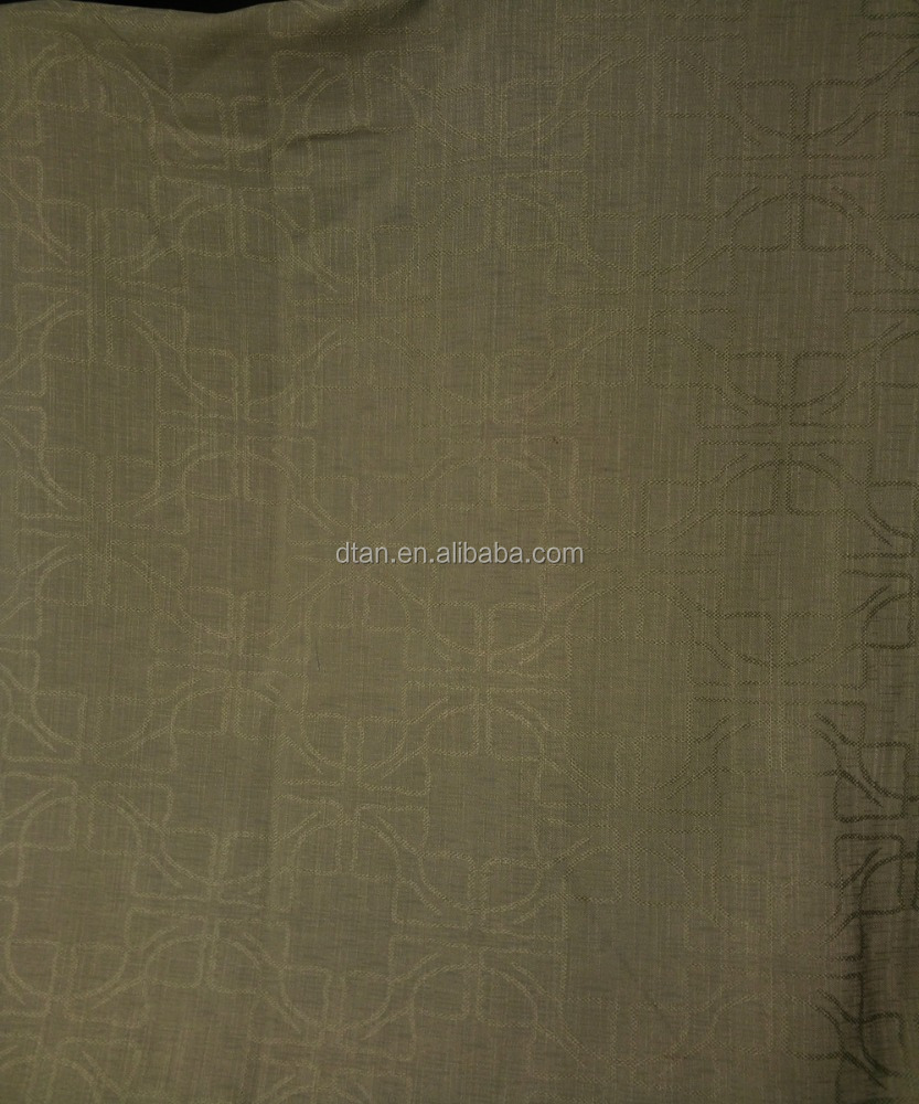 2016 luxury polyester jacquard window curtains