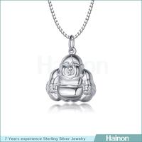 Cheap wholesale 999 sterling silver small buddha head pendant