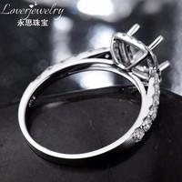 Halo 0.56Ct diamond cushion cut 6*6mm jewelry settings without stones