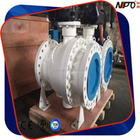 F304/F304L/F316/F316L/ A105 2 PC Trunnion Mounted Flange Ball Valve