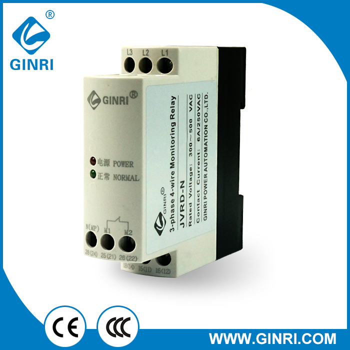 JVRD-N 3-phase 4-wire Phase Failure/Phase Reversal Relay