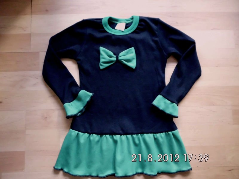 Girls autmn-winter dress 100% cotton