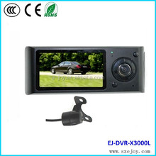 2014 Promotion !!! X3000 low price GPS G-sensor Dual camera car black box camera