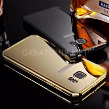 Alibaba Express Electroplating PC Mirror Phone Case For Samsung Galaxy S7 edge Case aliminum bumper metal Mirror Cover