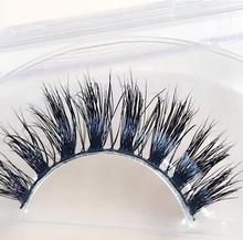 Soft new design 100% real mink fur eyelashes real mink 3D strip lashes