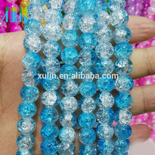 crack beads glass beads wholesale 10mm blue round jewelry beads