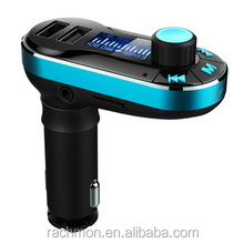 Bluetooth MP3 Player Handsfree Car Kit Dual USB Charger FM Transmitter with USB MP3 LCD Car Charger BT66
