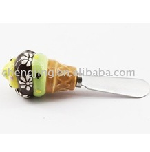 Wholesale Direct Factory Produce Fashion Decor Cute Cupcake Ceramic Butter Knife