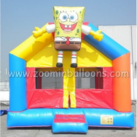 New design inflatable cartoon bouncy castle spongebob theme for sale Z1149