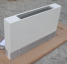 Hot water heating system slim floor standing type fan coil unit