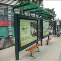 modern high quality used hot sale bus stop shelter design