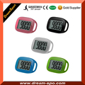 High Quality Factory Wholesale Large 3d Simple Pedometer with Leash Extra Large Screen Step Counter