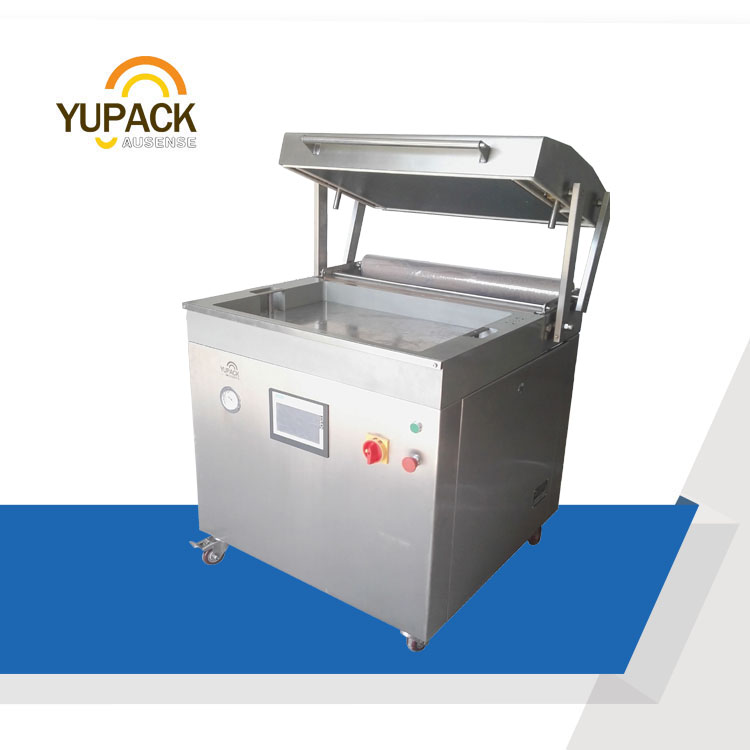 DZT7050 Skin Vacuum Packing Machine for Meat/ Fish/ Shrimp Foods in the Tray