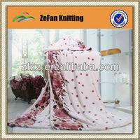 2014 New style knitted polyester korean blankets wholesale