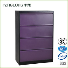 Four Drawer Lateral Filing cabinet colorful unique Purple steel file cabinets