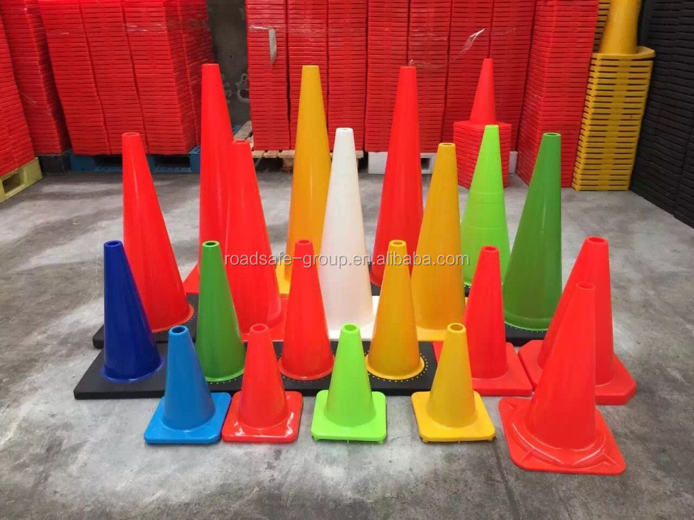 Flexible PVC cone 28'' orange used traffic cones