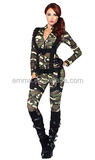 Adult Pretty Paratrooper Costume Fashion Cosplay Army Sex Costume BWG-2669