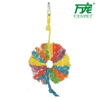 coloful hemp rope toy for birds