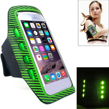 Universal Compatible Neoprene/pvc/ led lights Running Cycling Sports armband LED light Cell Phone Case