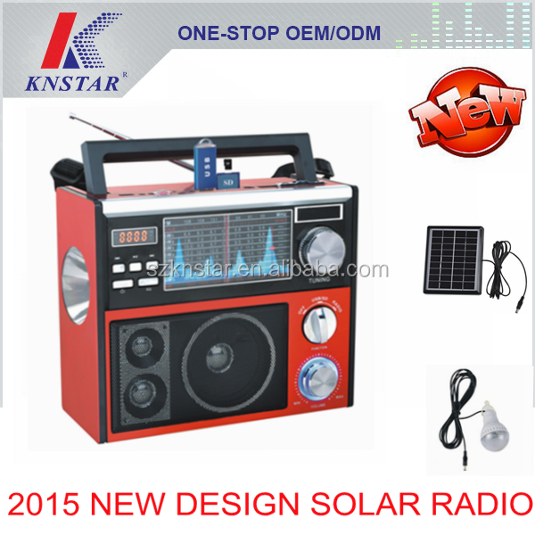 Multiband solar power AM FM radio with mobile phone charging