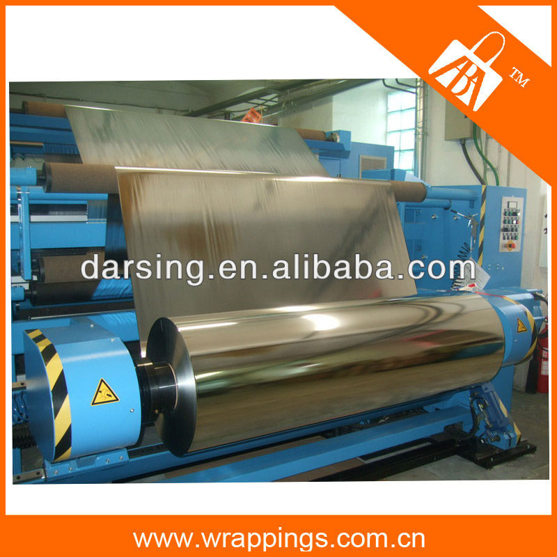 2015 lamination metalized bopp film