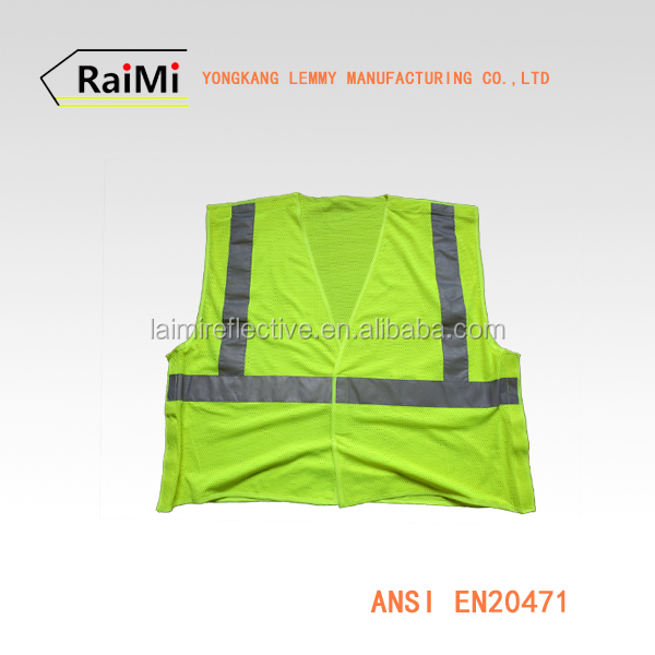 work wear uniform light up clothing 100 polyester work vest mesh safety vest