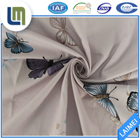 100% polyester butterfly print twill fabric properties for bedding