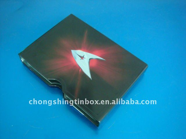 Rectangular metal CD sets packaging tin case