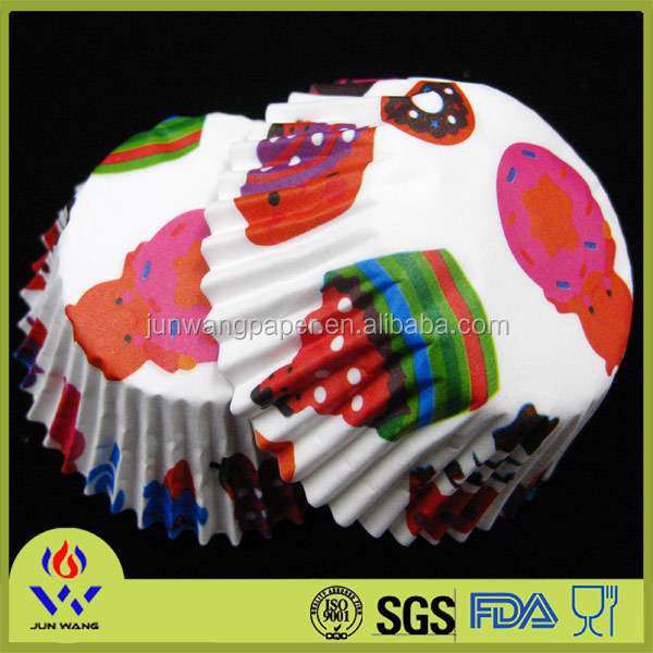 Multi color printing paper cupcake holder for party decorations