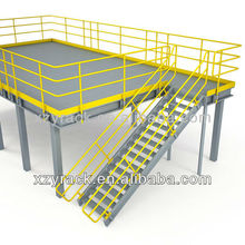 Large Space Capacity Storage Steel Platform with Grill Floor