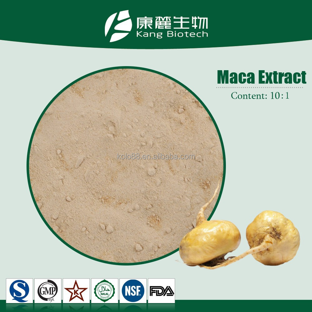 GMP Factory Natural free sample sex product Pure Maca Extract 4:1, 10:1 maca root extract powder maca root extract
