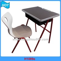 L shape PP Shell School Table and Chair Study Furniture